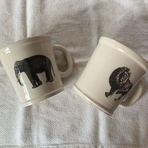 World Market animal mug set